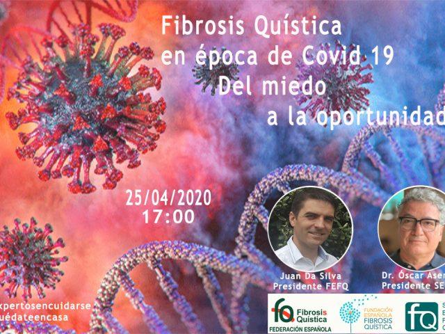 Si te perdiste el webinar «Fibrosis Quística en época de COVID-19. Del miedo a la oportunidad» puedes verlo aquí