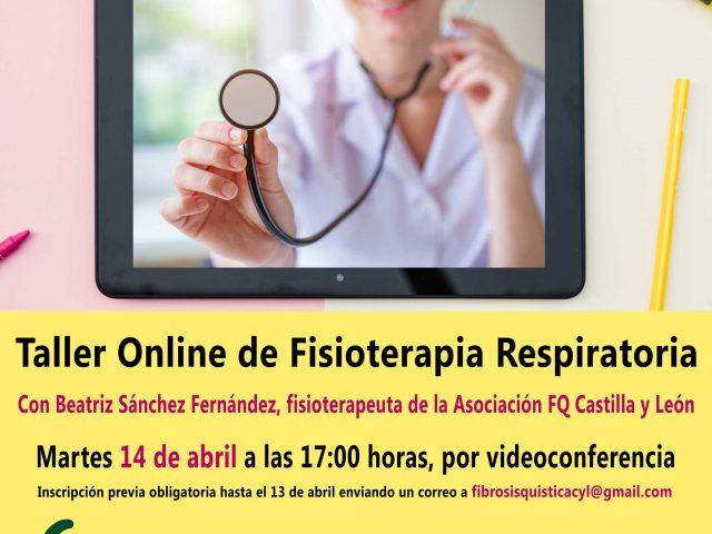 Inscríbete al taller online de fisioterapia respiratoria, el 14 de abril